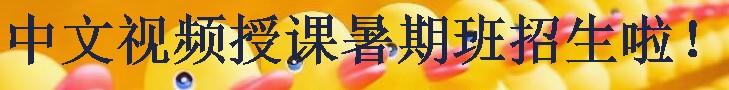 中文视频授课暑期班招生啦